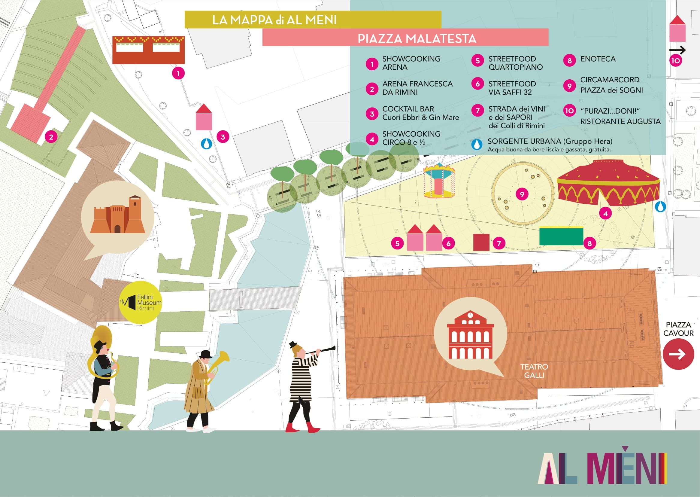 A Mèni 2021 / mappa piazza Malatesta / Rimini